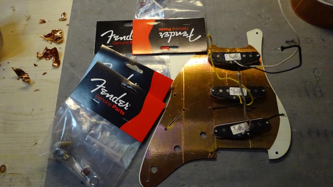 Fender slagplade