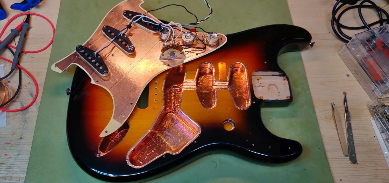 Stratocaster afskærmning